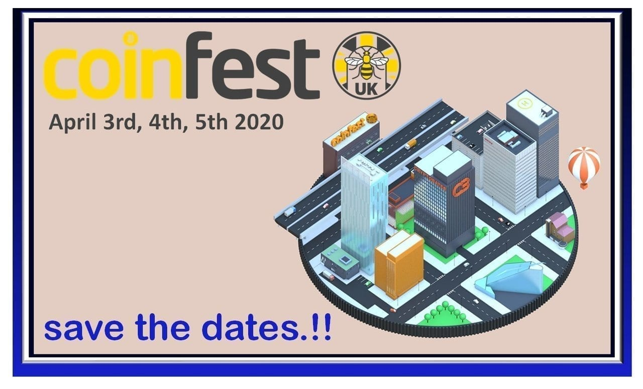 CoinFestUK 2020, Manchester, UK, crypto, cryptocurrency, blockchain, events, conferences